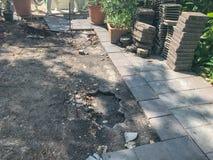 未完成的地垫砖项目 图库摄影