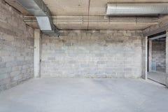 未完成的大厦内部 免版税库存照片