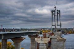未完成的大厦曲拱桥梁 图库摄影