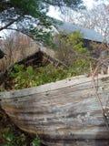 未完成的小船 免版税库存照片