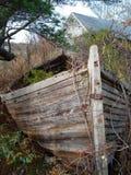 未完成的小船2 库存图片