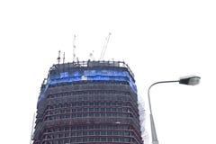 未完成的建造场所 免版税库存照片
