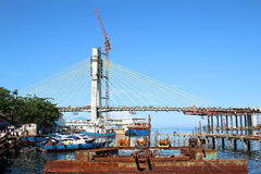 未完成的桥梁在万鸦老 免版税库存图片