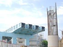 未完成的桥梁 库存照片
