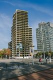 未完成的现代建筑学在对角四分之一区,巴塞罗那 免版税图库摄影