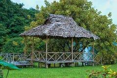 未完成的竹房子 库存照片