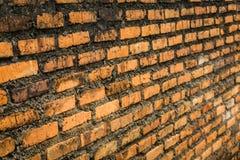 未完成的红砖墙壁构造了在房子建筑和整修拍的照片在德波印度尼西亚 库存图片
