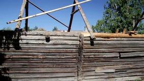 未完成的老历史的客舱木屋 股票录像