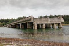 未完成的高速公路桥梁,捷克共和国 免版税图库摄影