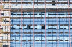 未完成的玻璃大厦 库存图片