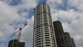 未完成的建筑,被放弃的大厦 充分的HD录影 影视素材