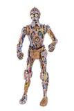 未完成的C-3PO 免版税库存照片