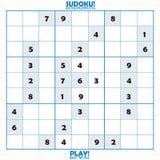 未完成难题sudoku 免版税库存图片