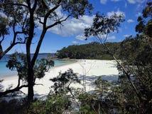 未开发的地区海滩 免版税库存图片