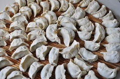 未成熟的饺子 免版税库存图片