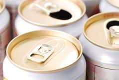 仅未打开的饮料能 免版税图库摄影