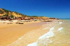 未损坏的海滩,西澳州 免版税库存图片