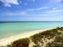 未损坏的海滩 免版税库存图片