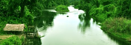 未探测的天堂:东北镇印度 库存图片