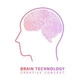 未来人工智能技术 机械脑子创造性的想法传染媒介概念 皇族释放例证
