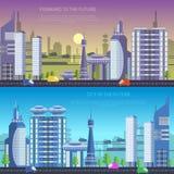 未来传染媒介城市 免版税库存图片