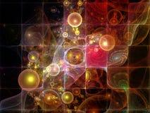 未来基本粒子 库存例证
