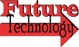 未来技术词概念性例证 免版税库存图片