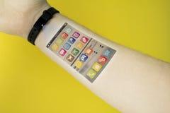 未来智能手机 免版税图库摄影