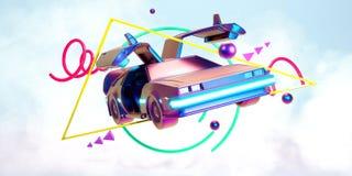 未来汽车,减速火箭第80 向量例证