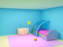 未来派儿童卧室 免版税库存图片