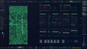 未来派原始代码数字 免版税库存图片