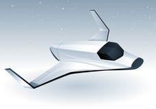 未来派太空飞船 图库摄影