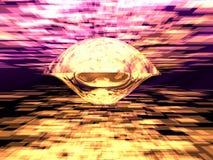 未来派太空飞船 免版税图库摄影