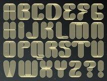 未来派技术向量字体 镶边被排版的信件 皇族释放例证