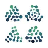 未来派技术象,绿松石颜色形状,抽象生物网络,化工象,被隔绝的分子结构 库存例证