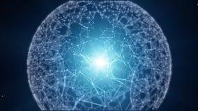 未来派技术逆网络 库存例证