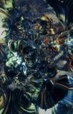 未来派抽象的背景 与dof的色的f ractals 向量例证