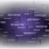 未来派抽象的背景 数字技术二进制编码 向量例证