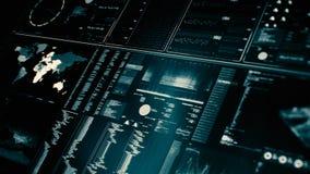 未来派接口/数字式屏幕透视图  股票录像