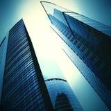 未来派摩天大楼 免版税库存照片