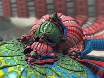 未来派数字式3d艺术分数维例证-看在无限 免版税图库摄影