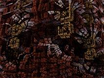 未来派数字式3d艺术分数维例证-看在无限 皇族释放例证