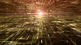 未来派数字抽象矩阵微粒栅格 免版税库存照片