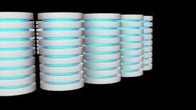 未来派服务器硬盘和数据库或者蓄电池单位 库存例证