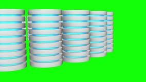 未来派服务器硬盘和数据库或者蓄电池单位 向量例证