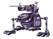 未来派机器人战士 向量例证