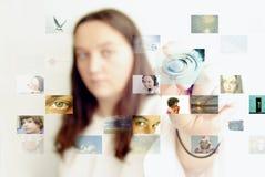未来派照片选择 免版税库存图片
