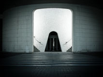 未来派的入口 免版税库存照片