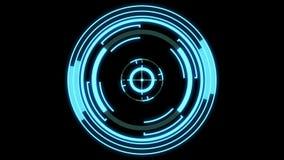 未来派的HUD -搜寻,跟踪,锁目标,loopable零件,阿尔法面具包括 库存例证