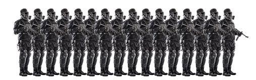 未来派纳粹战士小队  图库摄影